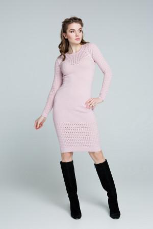 Сукня «Ажур» кольору пудри