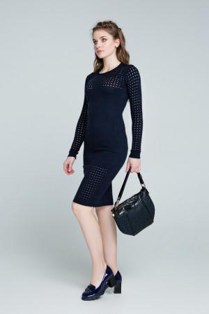 Платье «Ажур» темно-синего цвета