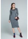 Сукня «Ажур» темно-сірого кольору