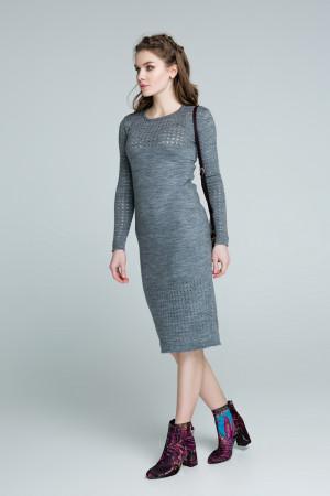 Платье «Ажур» темно-серого цвета