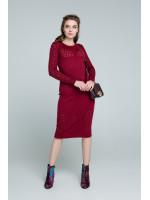 Сукня «Ажур» бордового кольору