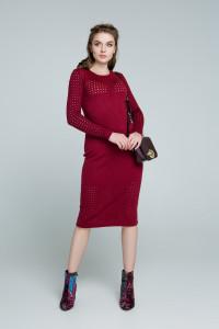 Платье «Ажур» бордового цвета
