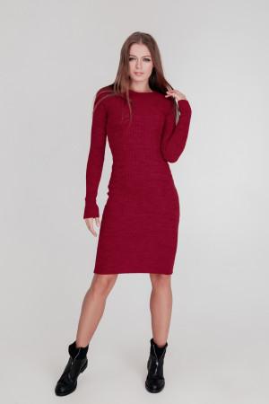 Платье «Лена» бордового цвета