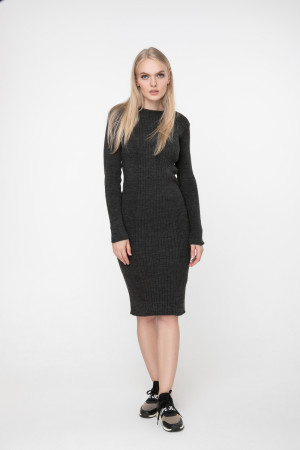Платье «Лена» темно-серого цвета