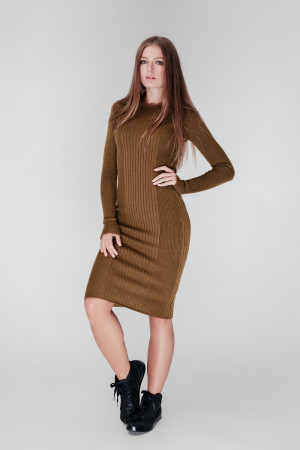 Платье «Лена» цвета хаки