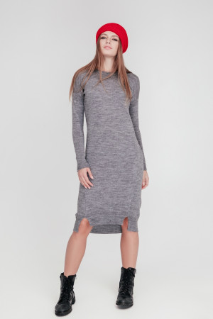 Платье «Мальме» серого цвета