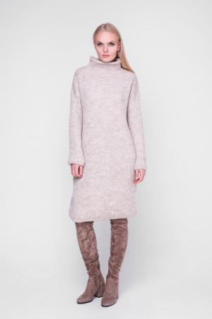 Платье «Люрекс» цвета шампиньон