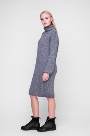 Платье «Люрекс» серого цвета