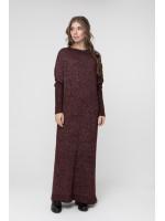Сукня «Санта» кольору бордовий меланж