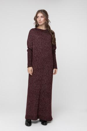 Платье «Санта» цвета бордовый меланж