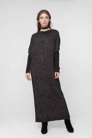 Платье «Санта» черного цвета
