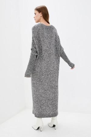 Платье «Санта» цвета светло-серый меланж