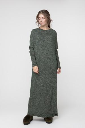 Платье «Санта» темно-зеленого цвета