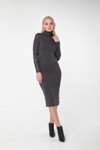 Сукня «Вояж» темно-сірого кольору