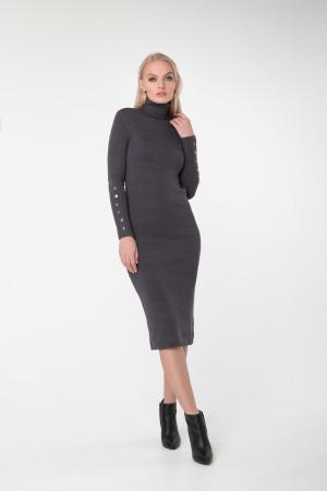 Платье «Вояж» темно-серого цвета