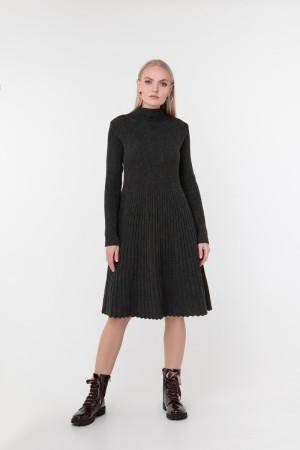 Платье «Аккорд» темно-серого цвета