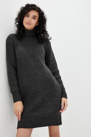 Платье «Роше» темно-серого цвета