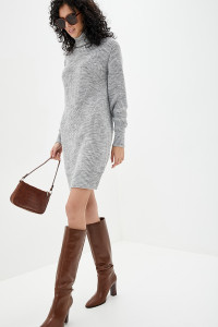 Платье «Роше» цвета светло-серый меланж