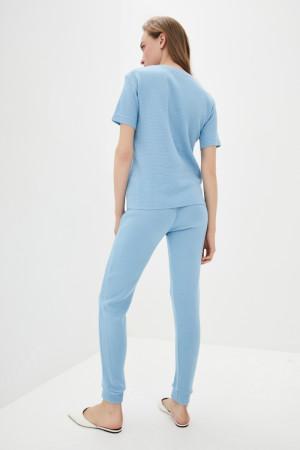 Вязаный костюм «Бриз» голубого цвета