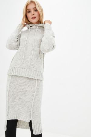 В'язаний костюм «Імре» білого кольору