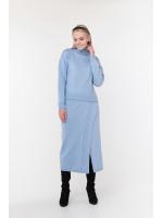Свитер «Камелия» голубого цвета