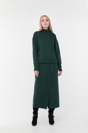 Свитер «Камелия» темно-зеленого цвета
