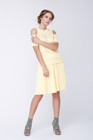 Юбка «Арти» желтого цвета