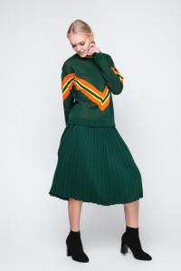 Юбка «Арти плюс» темно-зеленого цвета