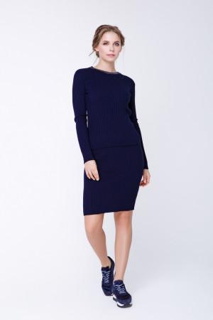 Юбка «Смарт» темно-синего цвета