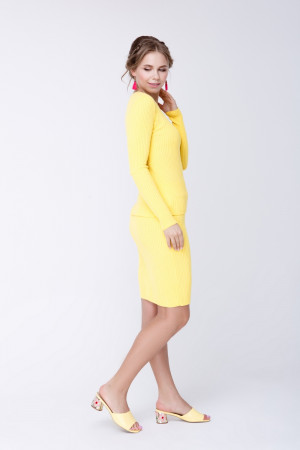 Юбка «Смарт» желтого цвета