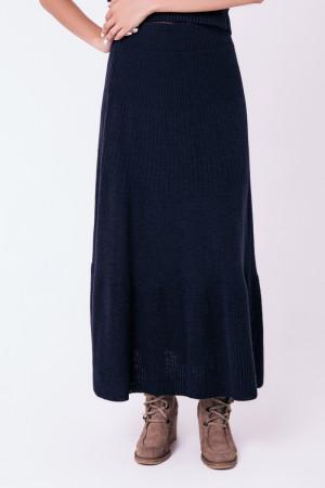 Юбка «Клеш» темно-синего цвета