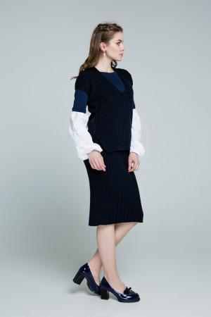 Юбка «Марта» темно-синего цвета