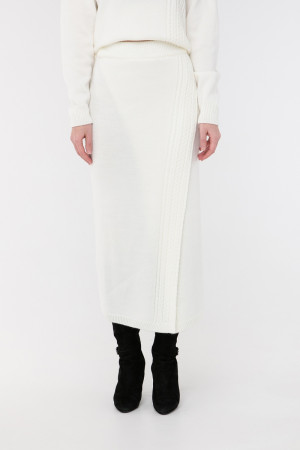 Юбка «Камелия» белого цвета