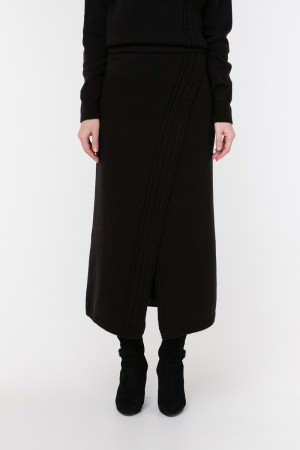 Юбка «Камелия» черного цвета