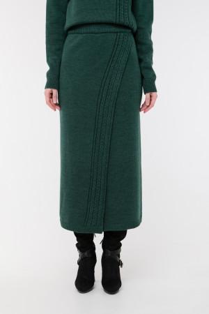 Юбка «Камелия» темно-зеленого цвета