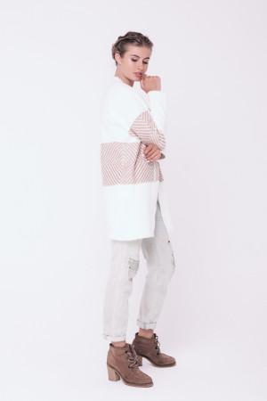 Кардиган «Пітбуль» білого кольору