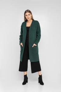 Кардиган «Зара» темно-зеленого цвета