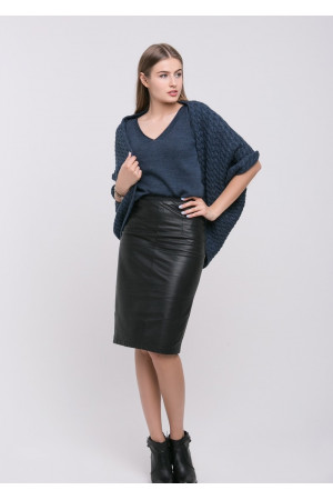 Кардиган-шаль «Катта» цвета джинс