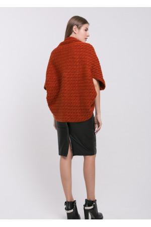 Кардиган-шаль «Катта» теракотового кольору