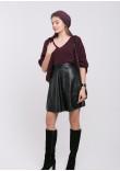 Кардиган-шаль «Катта» брусничного кольору
