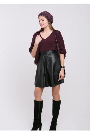 Кардиган-шаль «Катта» брусничного цвета