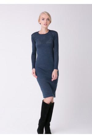 Сукня «Ажур» кольору джинс