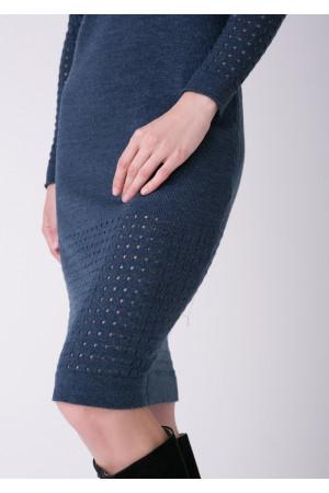 Платье «Ажур» цвета джинс