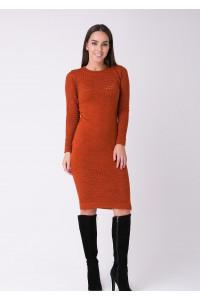 Платье «Ажур» терракотового цвета