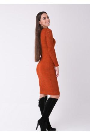 Сукня «Ажур» теракотового кольору