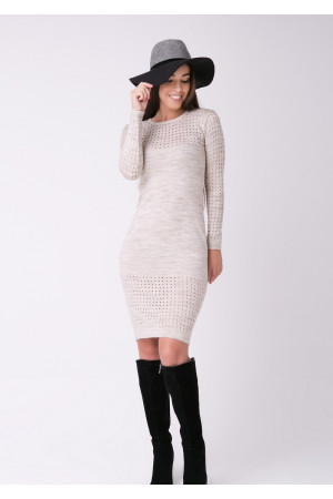Платье «Ажур» цвета шампиньон