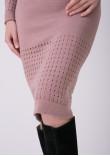 Сукня «Ажур» кольору марсала