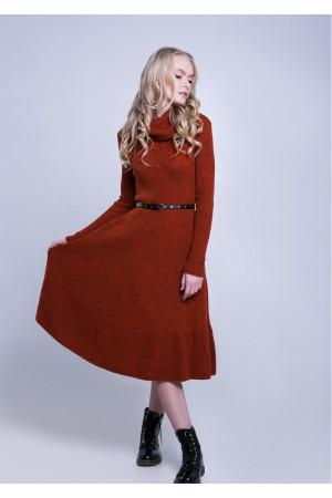 Платье «Мери» терракотового цвета