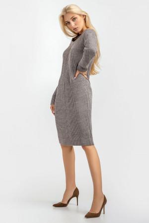 Платье «Дагмар» серо-бежевого цвета