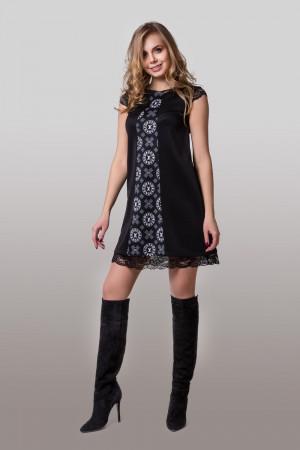 Платье «Вонда» с черным принтом